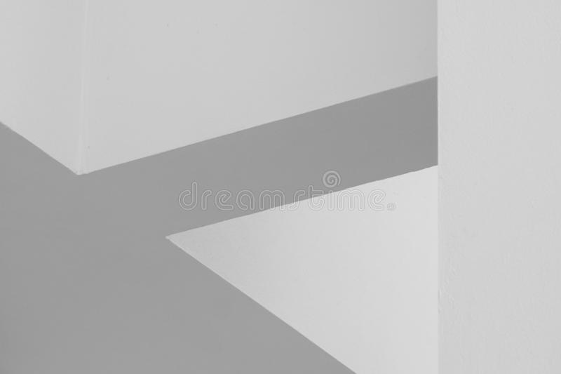 Linhas abstratas na arquitetura Detalhe moderno da arquitetura Fragmento refinado construção interior/pública contemporânea do es imagens de stock