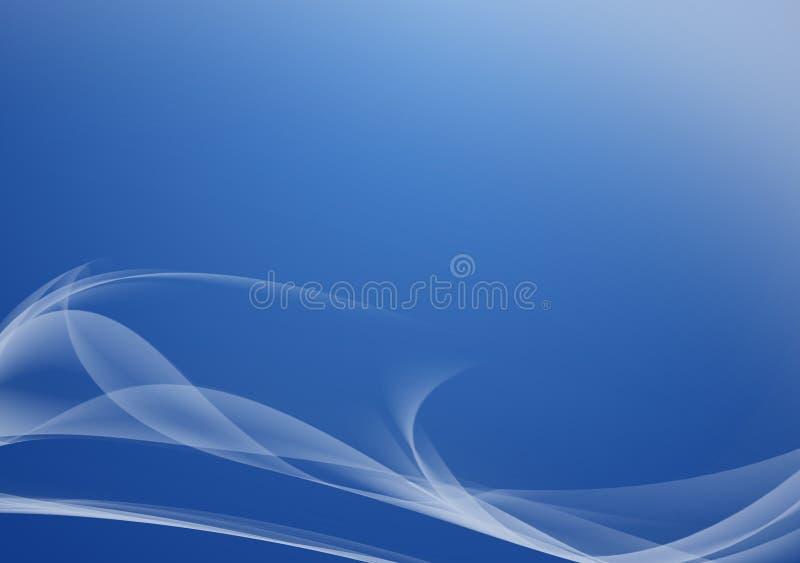 Linhas abstratas que fluem no azul ilustração royalty free