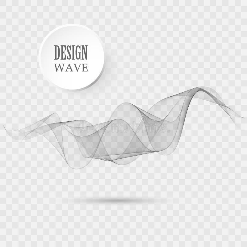 Linhas acenadas abstratas do fundo do vetor, as cinzentas e as alaranjadas para o folheto, Web site, projeto do inseto ilustração do vetor