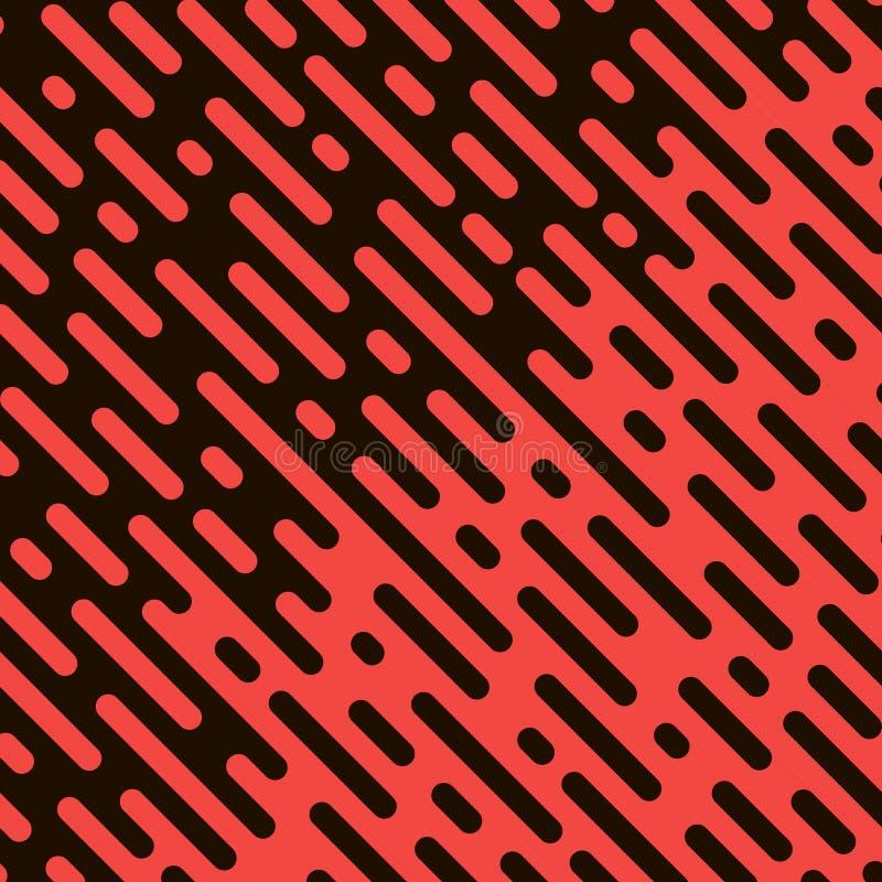 Linhas arredondadas teste padrão ilustração stock