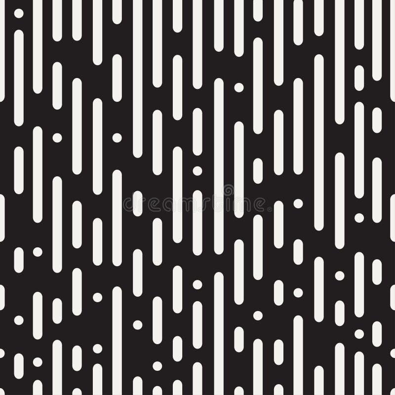 Linhas arredondadas teste padrão sem emenda Fundo abstrato preto e branco ilustração royalty free