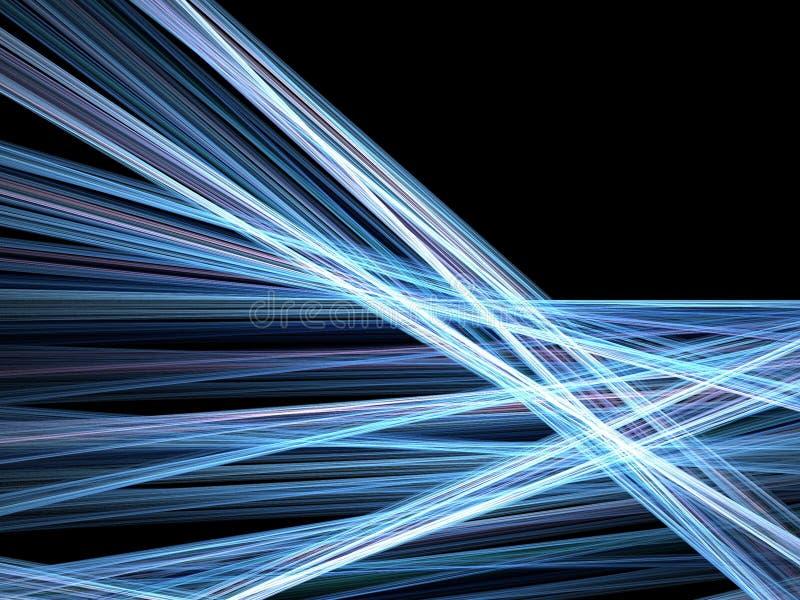 Linhas azuis de borrão de movimento ilustração do vetor