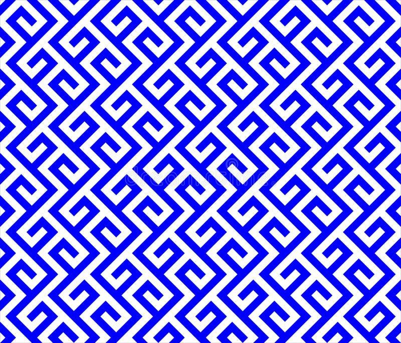 Linhas azuis e brancas dos sinuos ilustração do vetor