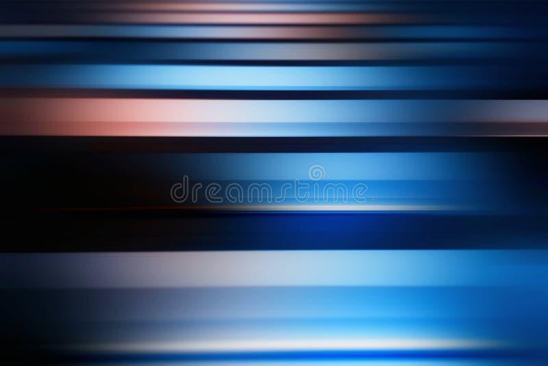 Linhas azuis e vermelhas horizontais hd do borrão de movimento do fundo ilustração stock