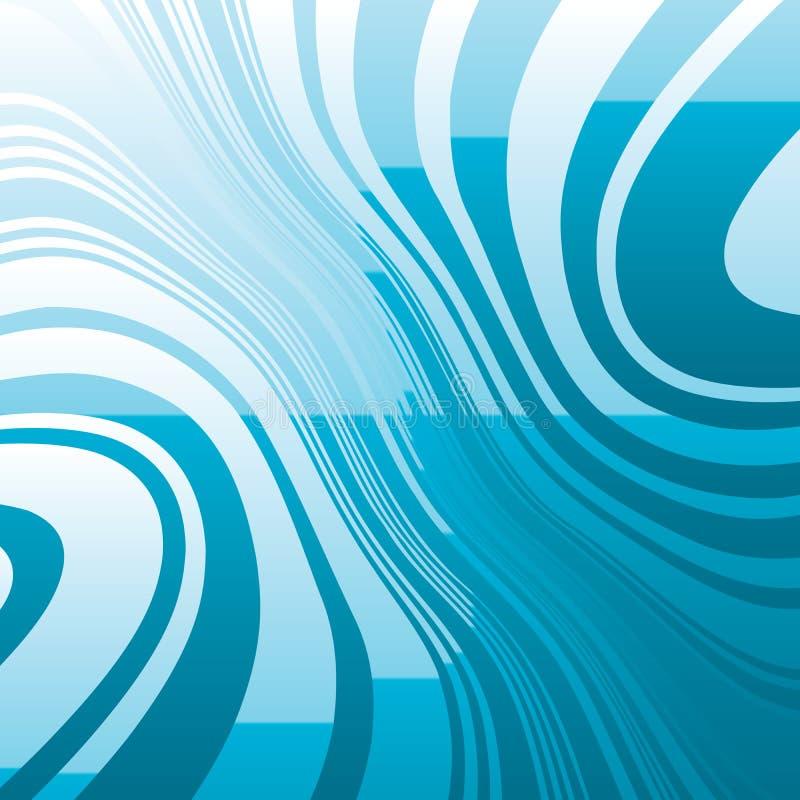 Linhas azuis entortadas sumário fundo ilustração royalty free