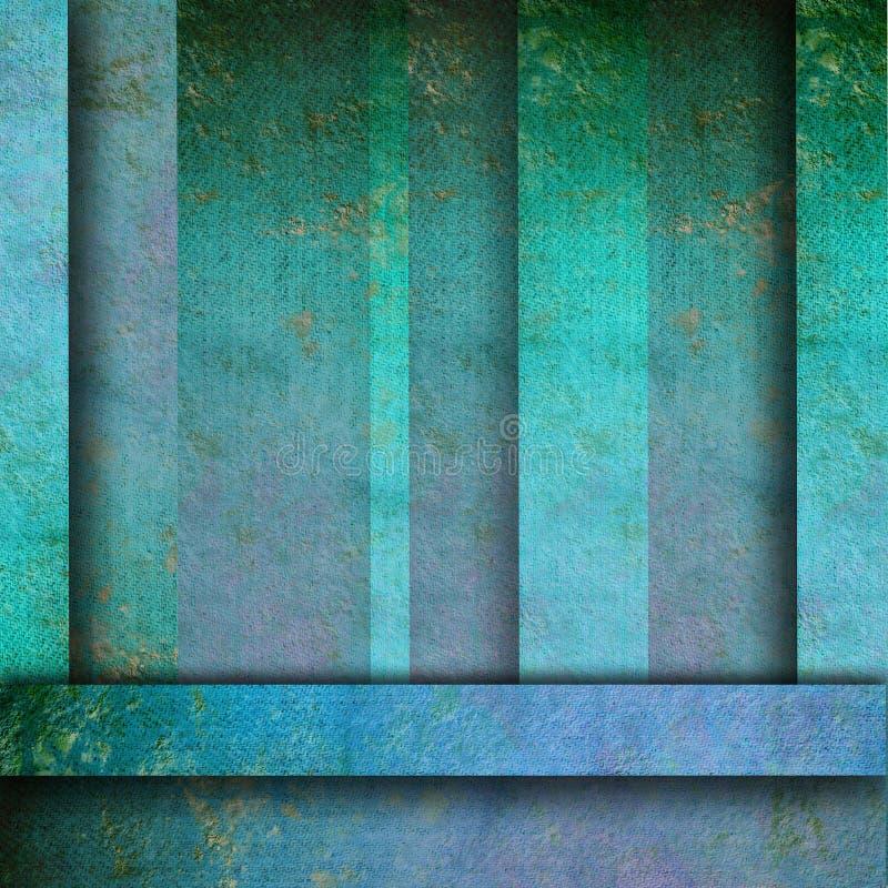Linhas azuis fundo do grunge ilustração royalty free