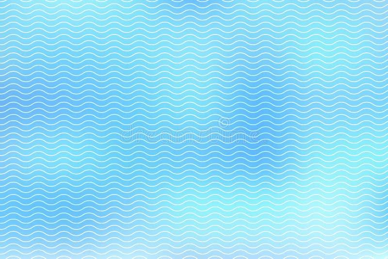 Linhas brancas abstratas onda no fundo azul ilustração royalty free