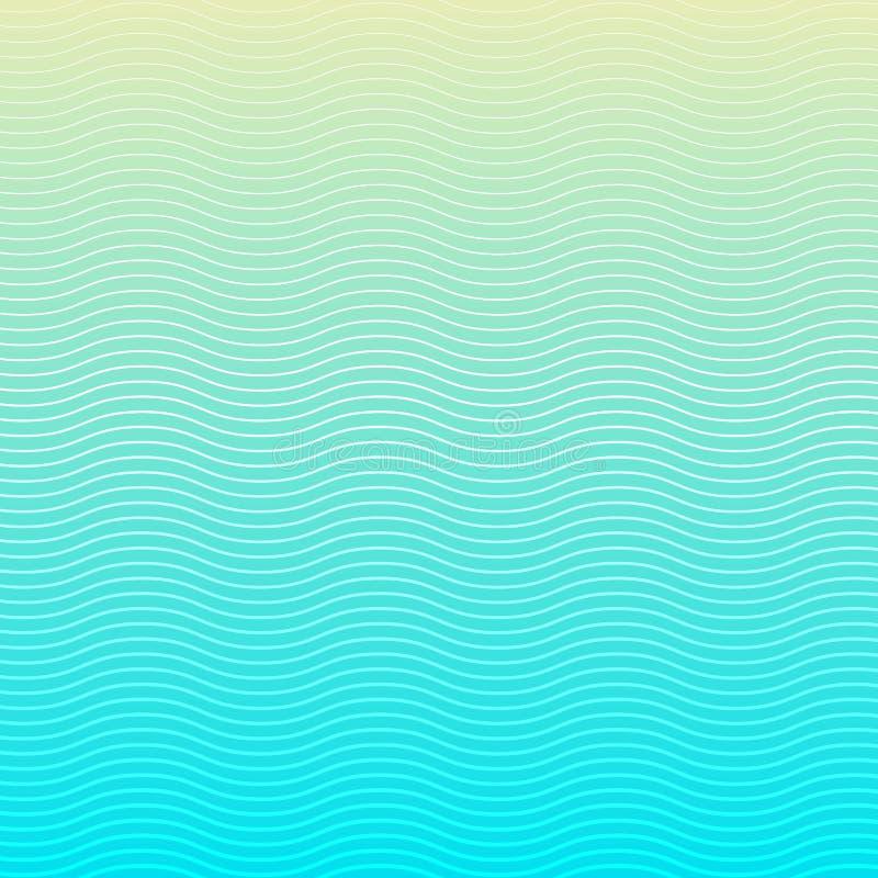 Linhas brancas teste padrão da onda no fundo e na textura azuis ilustração royalty free