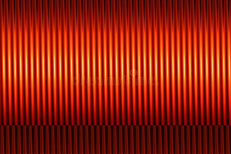 Linhas côncavas abstratas ilustração stock