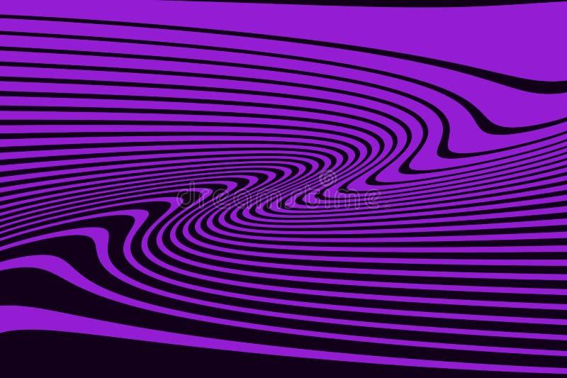 Linhas caóticas aleatórias da curva ótica do teste padrão do sumário do pulso aleatório do fundo da arte ilustração stock