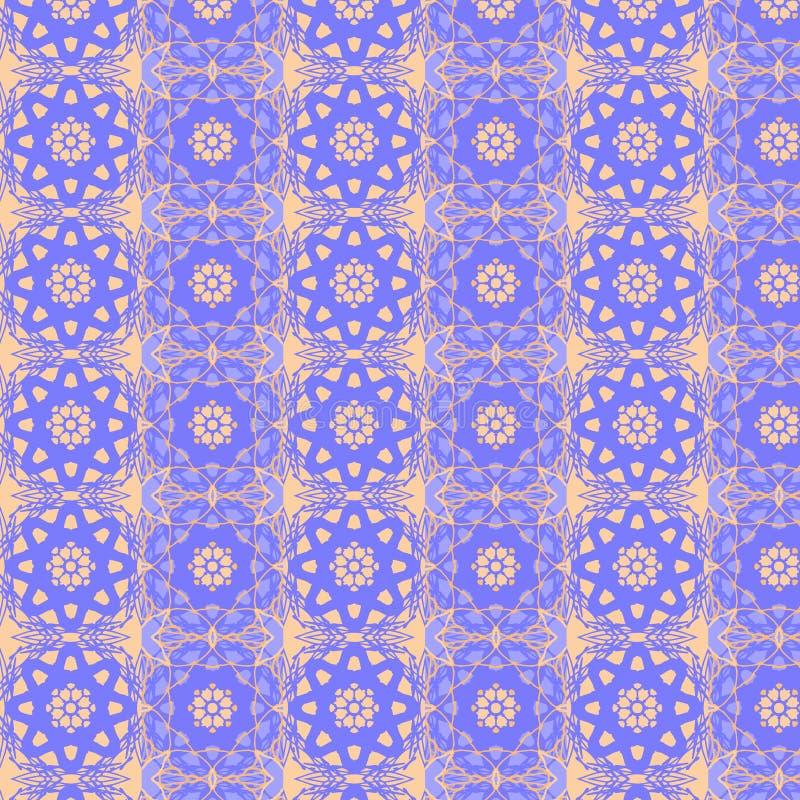 Linhas calidoscópicos teste padrão sem emenda ilustração stock