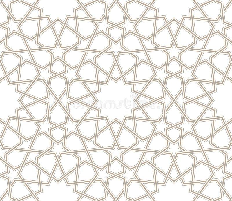 Linhas cinzentas geométricas do teste padrão de estrela com fundo branco ilustração stock