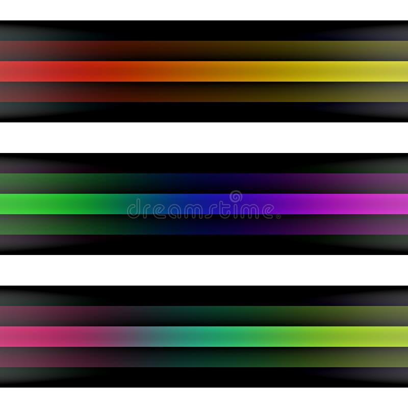 Linhas coloridas ilustração stock