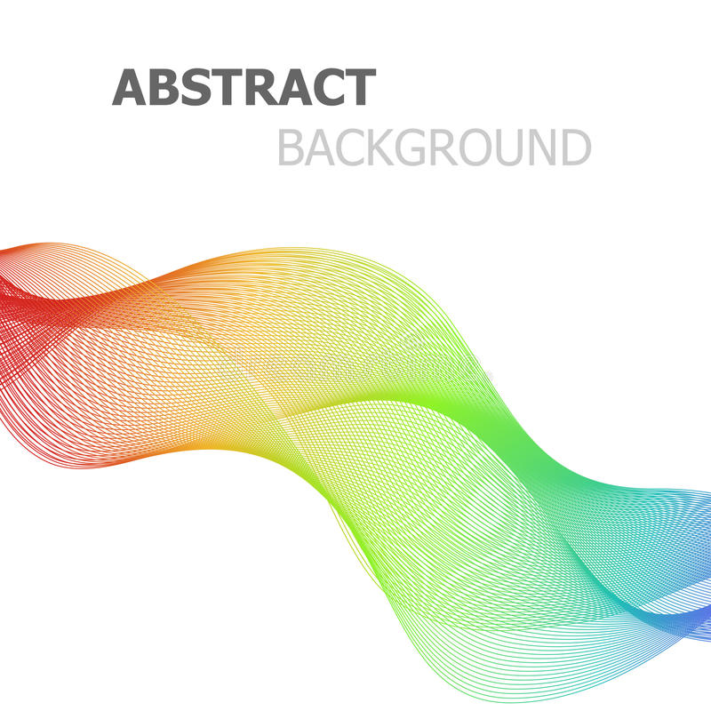 Linhas coloridas abstratas onda no fundo branco ilustração do vetor