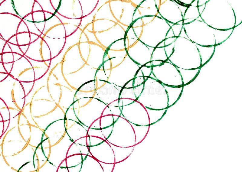 Linhas coloridas de círculos na perspectiva de inclinação fotos de stock royalty free