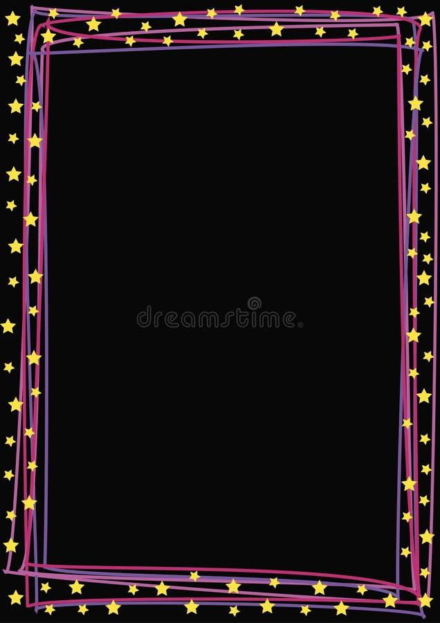 Linhas coloridas e estrelas ilustração stock