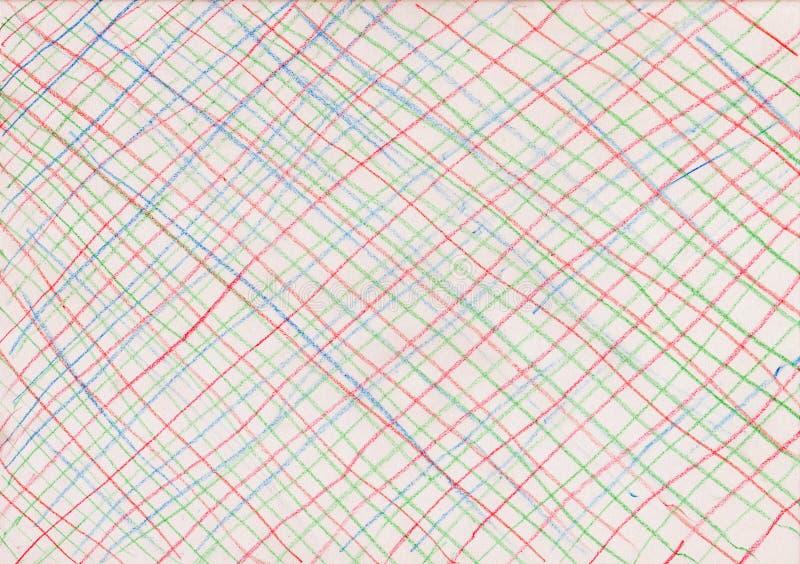 Linhas coloridas no fundo de papel imagens de stock