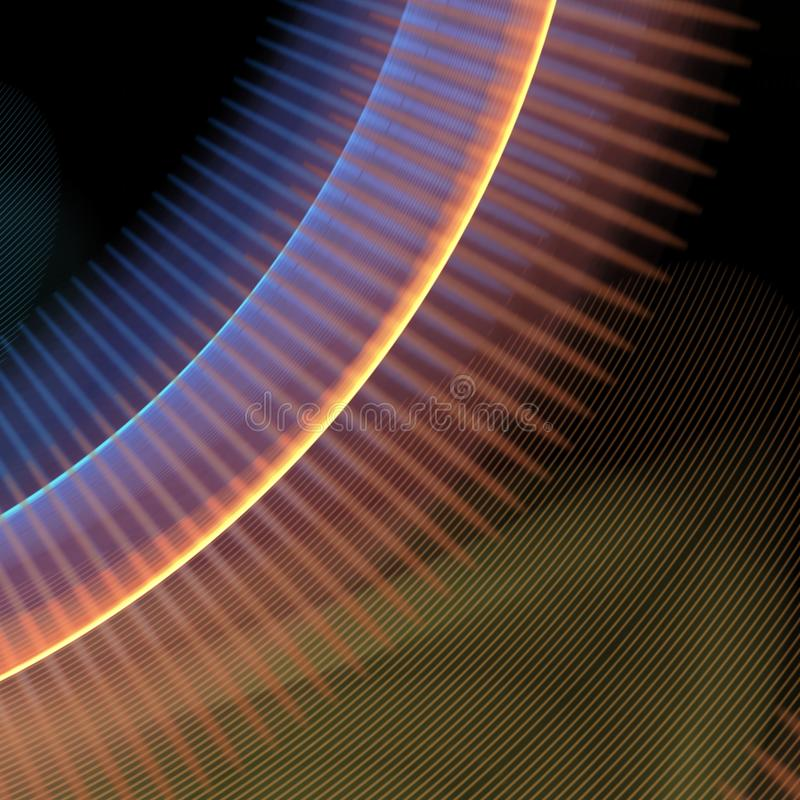 Linhas curvadas sumário ilustração stock