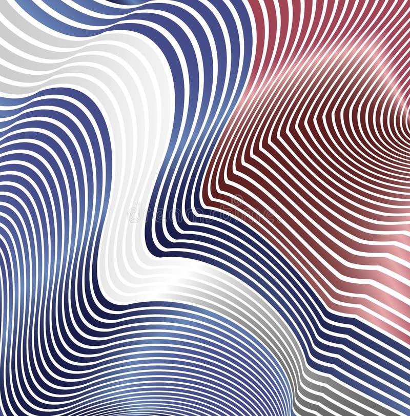 Linhas curvadas sumário sob a forma das ondas Fundo moderno Ziguezagues do relevo ilustração do vetor