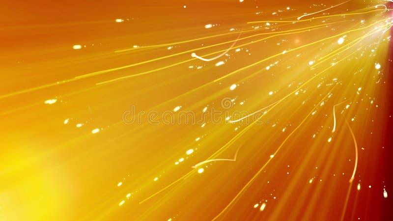 Linhas Curvy douradas de voo ilustração do vetor