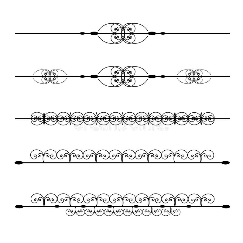 Linhas da régua ilustração stock