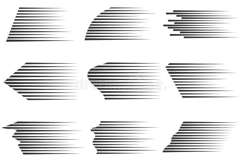 Linhas da velocidade do vetor ilustração royalty free
