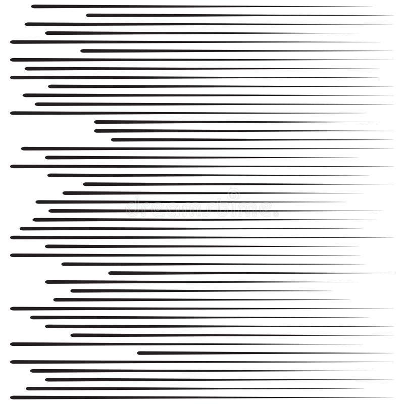 Linhas da velocidade Partículas de voo Lute raios de Sun da textura de Manga do selo ou a explosão gráfica da estrela ilustração do vetor