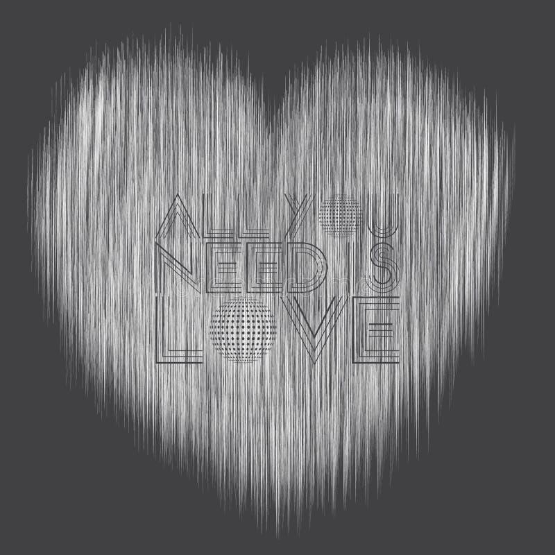 Linhas de amor dinâmicas ilustração royalty free