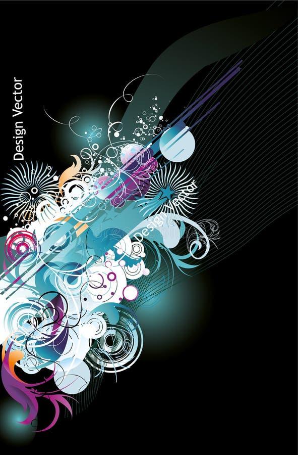 Linhas de cor abstratas ilustração stock