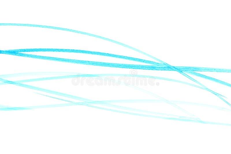 Linhas de cor da ?gua ilustração royalty free