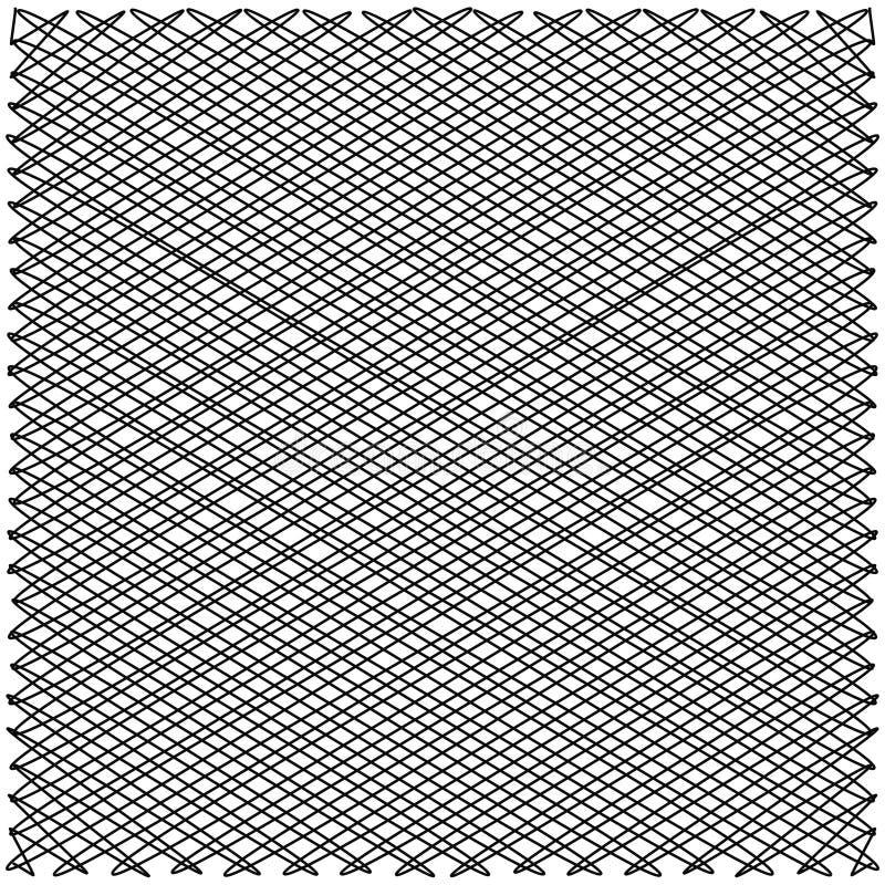 Linhas de cruzamento do ziguezague ilustração stock