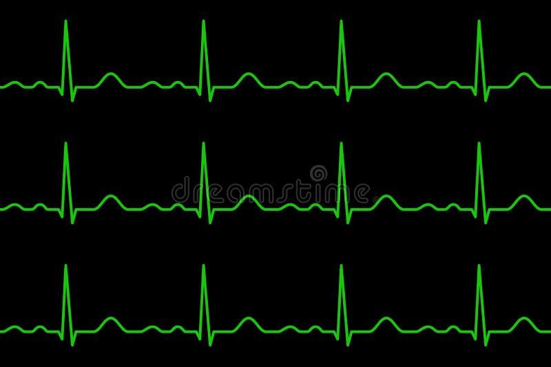 Linhas de Ekg heartbeat Teste padrão sem emenda ilustração royalty free