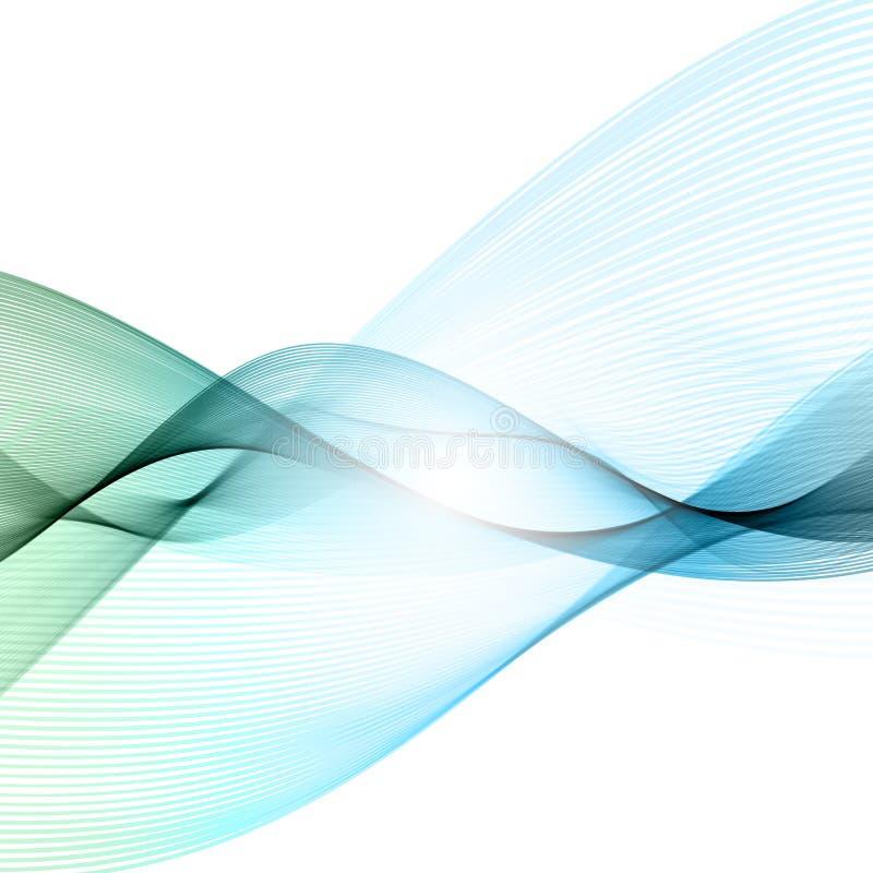Linhas de fluxo abstratas fundo ilustração do vetor