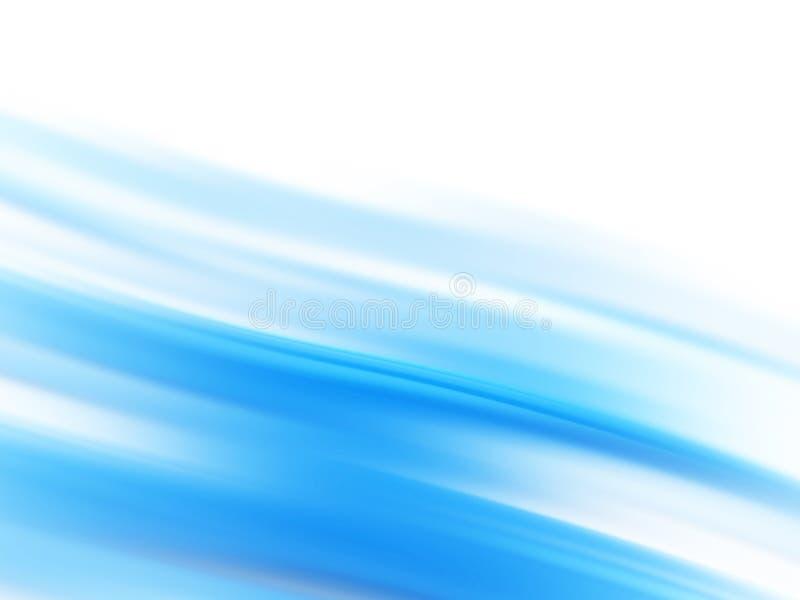 Linhas de fluxo azuis ilustração stock