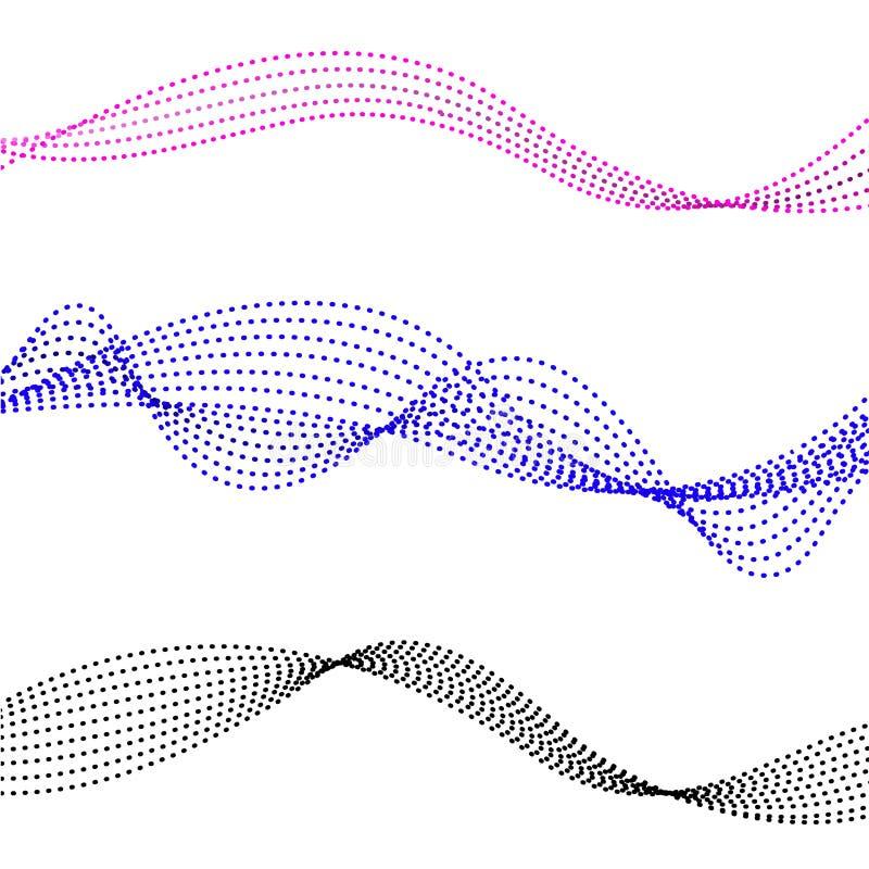 Linhas de fluxo coloridas ilustração royalty free