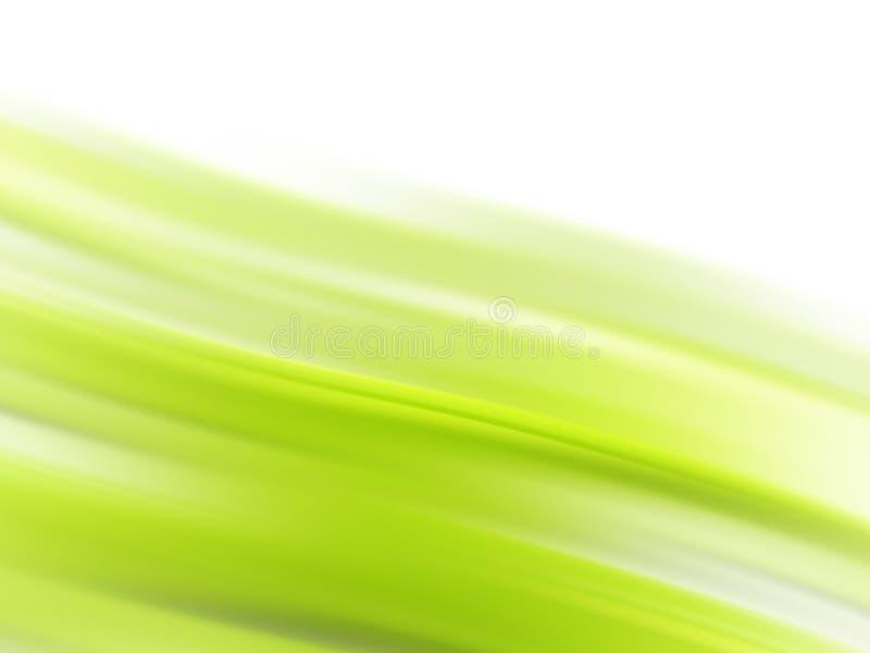 Linhas de fluxo verdes ilustração royalty free