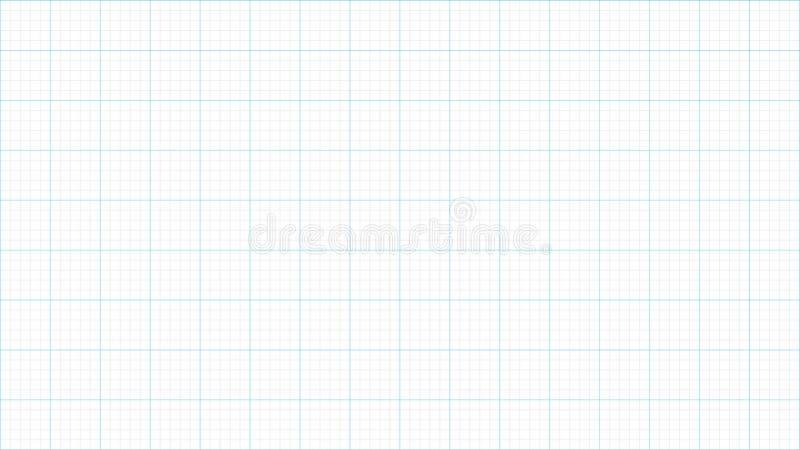Linhas de grade fundo do papel de gráfico ilustração stock
