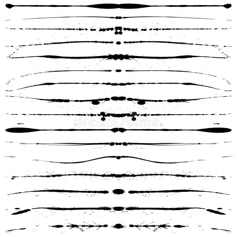 Linhas de Grunge ilustração do vetor
