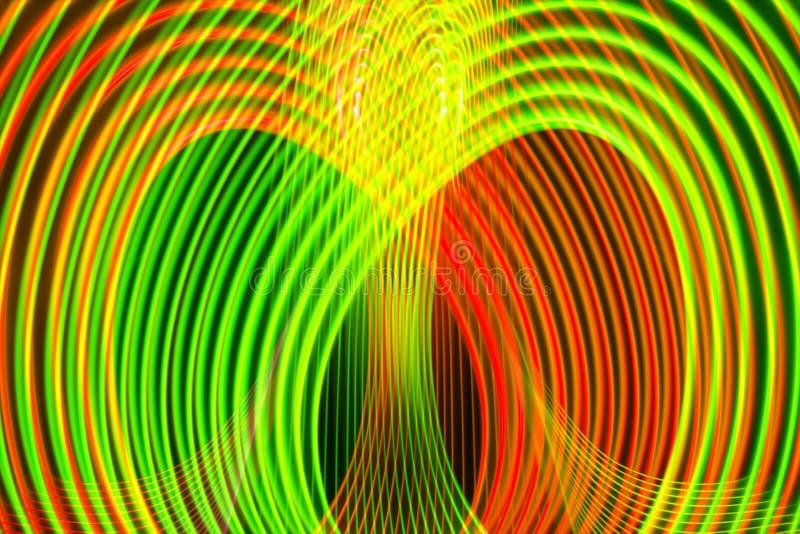 Linhas de incandescência de néon teste padrão do cruzamento do arco-íris do sumário ilustração stock