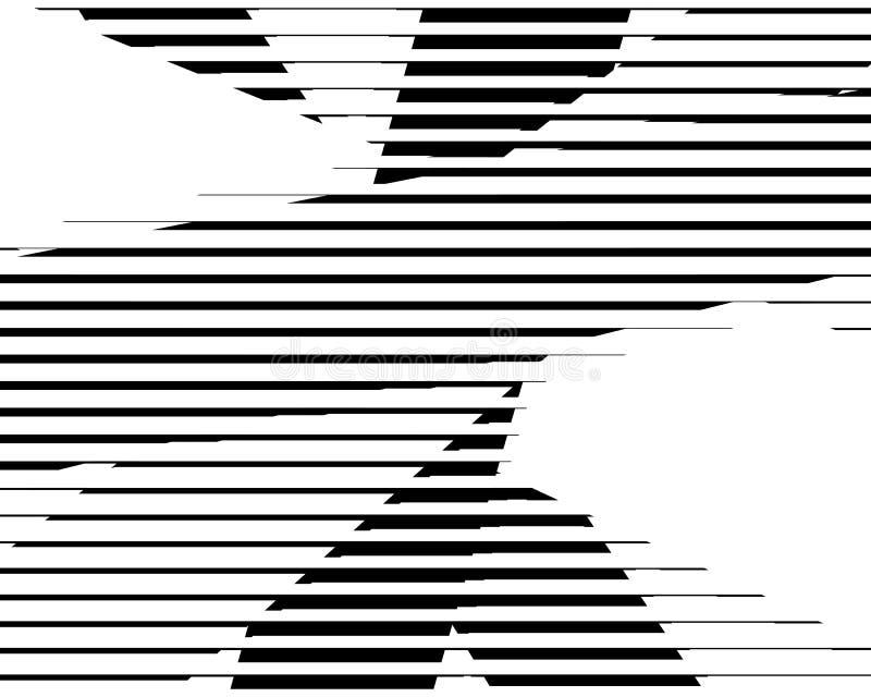 Linhas de intervalo mínimo fundo retro do bitmap preto e branco ilustração stock