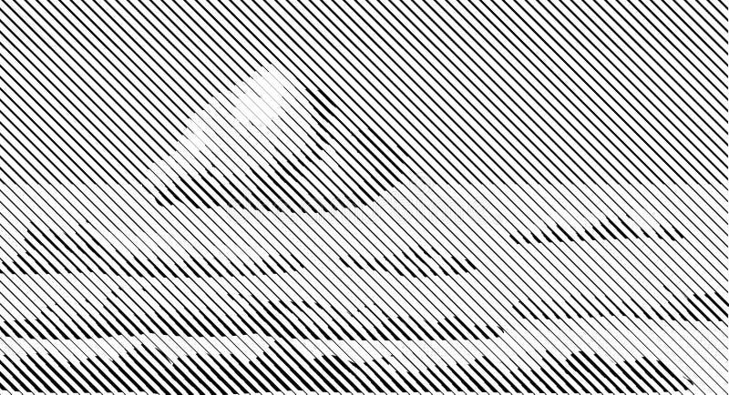 Linhas de intervalo mínimo nuvens brancas pretas do bitmap do céu do céu do fundo retro ilustração stock