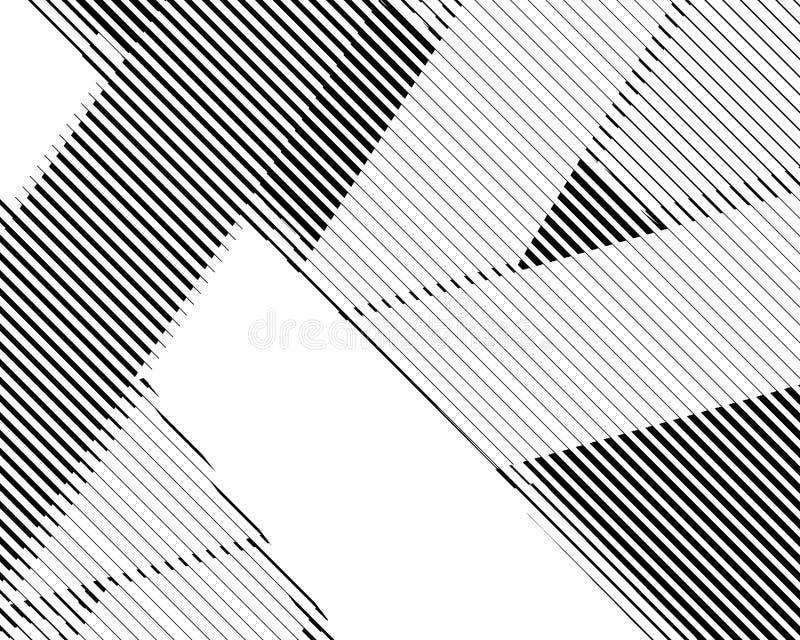 Linhas de intervalo mínimo teste padrão preto e branco do bitmap do fundo retro ilustração do vetor