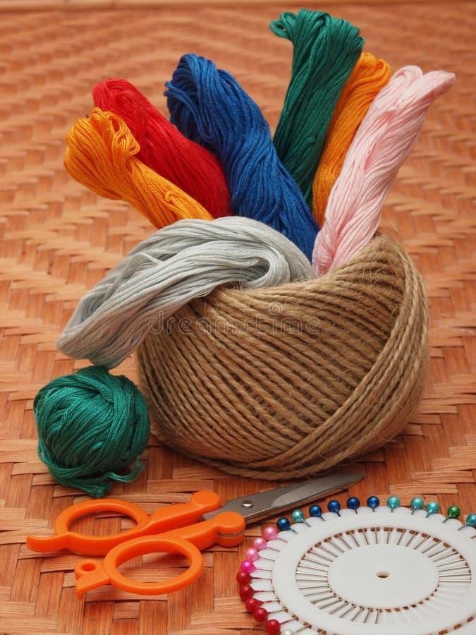 Linhas de lã imagens de stock royalty free