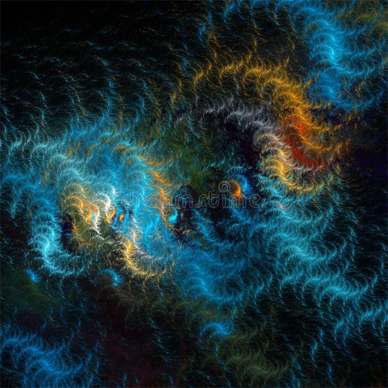 Linhas de lã coloridas dos fractals do sumário da arte do fractal do computador de Digitas ilustração do vetor