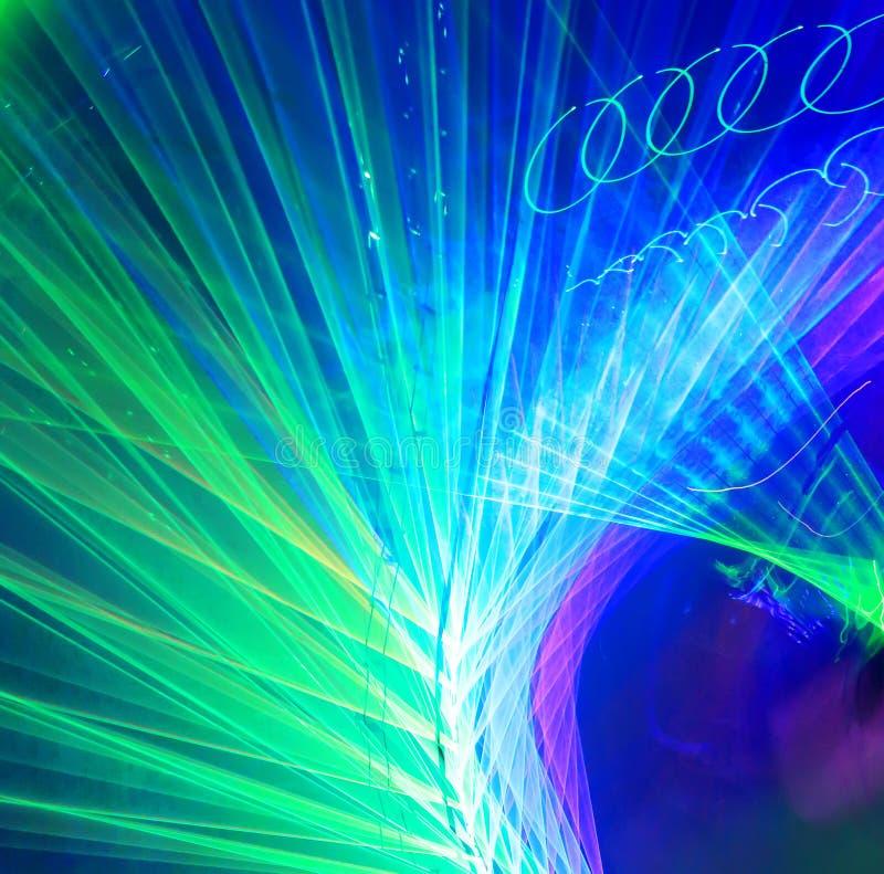 Linhas de lasers rodopiadas ilustração stock