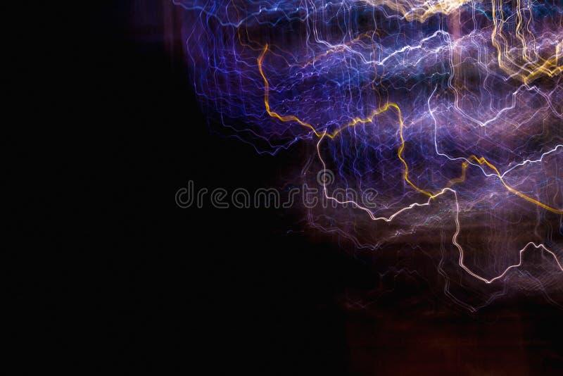Linhas de luzes abstratas no movimento ilustração stock