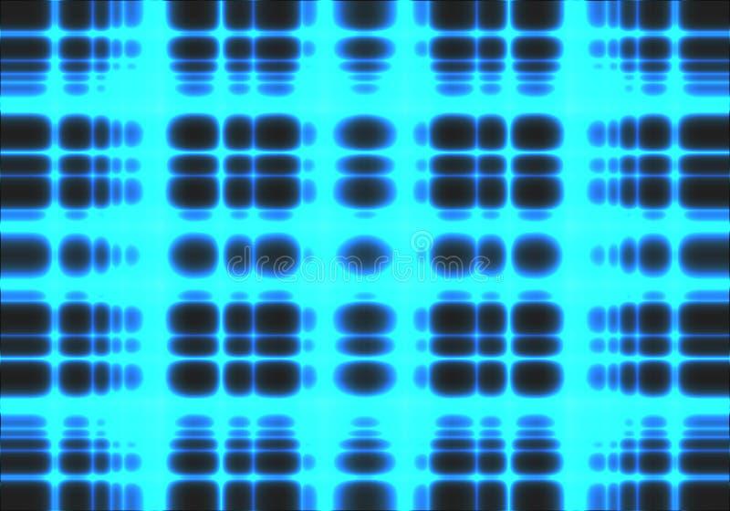 Linhas de néon claras azuis dados da malha do sumário da energia no vetor preto da tecnologia do fundo ilustração royalty free