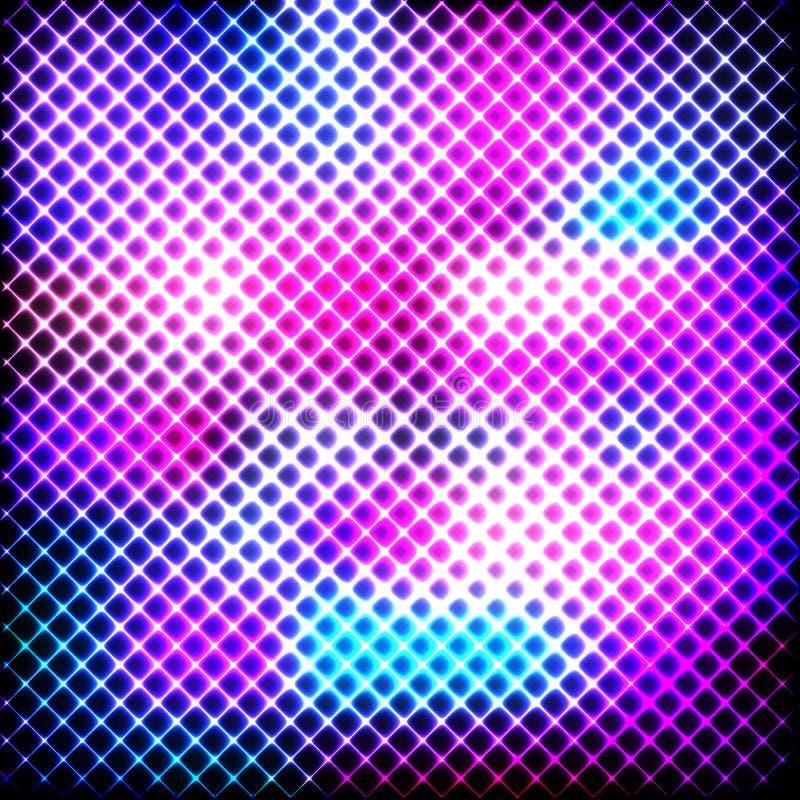Linhas de néon coloridas em um fundo escuro, vetor ilustração stock