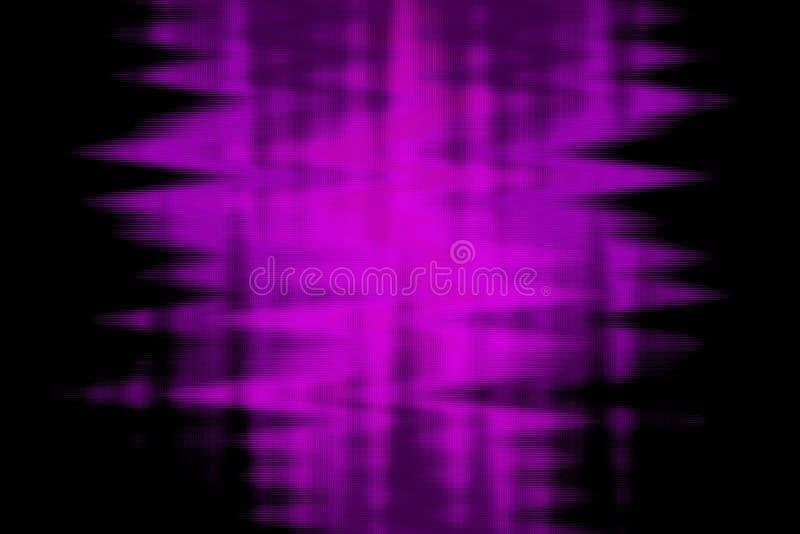 Linhas de néon roxas brilhantes do efeito do fluxo do fulgor Movimento dinâmico Partículas brilhantes ilustração stock