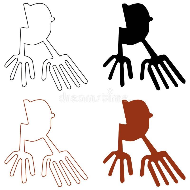 Linhas de Nazca ilustração royalty free